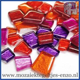 Glasmozaiek steentjes - Moonbeam Normaal - Gemixte Kleuren - per 50 gram - Rutas