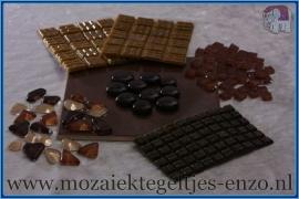 Mozaiek Kleur Pakket  Basic Line - Bruin