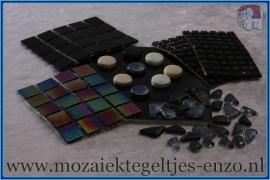 Mozaiek Kleur Pakket  Parelmoer - Zwart