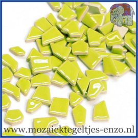 Keramische mozaiek steentjes - Keramiek Puzzel Stukjes Normaal - Enkele Kleuren - per 50 gram - Kiwi