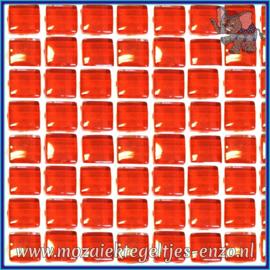 Glasmozaiek tegeltjes - Murrini Crystal - 1 x 1 cm - Enkele Kleuren - per 60 steentjes - Mini Brilliant Red