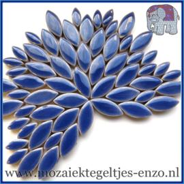 Keramische mozaiek steentjes - Petals Bloemblaadjes Normaal - 14 en 21 mm - Enkele Kleuren - per 50 gram - Delphinium