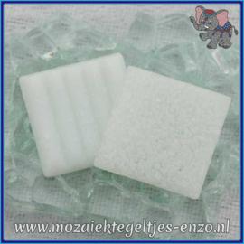 Glasmozaiek tegeltjes - Basic Line - 2 x 2 cm - Enkele Kleuren - per 20 steentjes - Iced White A02