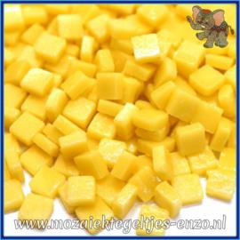 Glasmozaiek Pixel steentjes - Ottoman Matte - 0,8 x 0,8 cm - Enkele Kleuren - per 50 gram - Corn Yellow