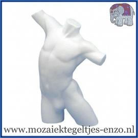 Piepschuim/Styropor - Torso man - Herenbuste met armen