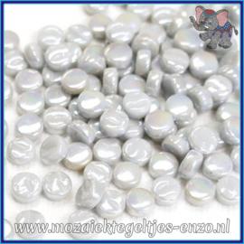 Glasmozaiek Pixel steentjes - Darling Dotz Parelmoer - 0,8 cm - Enkele Kleuren - per 50 gram - Pale Grey