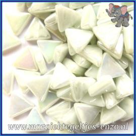 Glasmozaiek steentjes - Art Angles Parelmoer - 10 mm - Enkele Kleuren - per 50 gram - Opal White