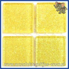 Glasmozaiek tegeltjes - Glitter - 2 x 2 cm - Enkele Kleuren - per 20 steentjes - Stardust