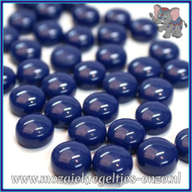 Glasmozaiek steentjes - Optic Drops Normaal - 12 mm - Enkele Kleuren - per 50 gram - Royal Blue