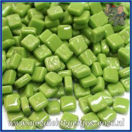 Glasmozaiek Pixel steentjes - Ottoman Normaal - 0,8 x 0,8 cm - Enkele Kleuren - per 50 gram - New Green