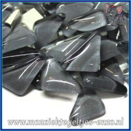 Glasmozaiek steentjes - Soft Glass Puzzles Normaal - Enkele Kleuren - per 50 gram - Charcoal Grey