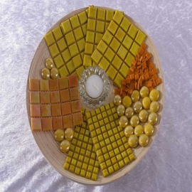 - Bamboeschaal - Geel