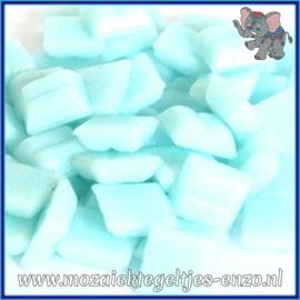 Glasmozaiek tegeltjes - Basic Line - 1 x 1 cm - Enkele Kleuren - per 60 steentjes - Mini Soft Aqua A04