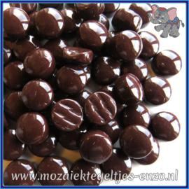 Glasmozaiek steentjes - Optic Drops Normaal - 12 mm - Enkele Kleuren - per 50 gram - Merbau