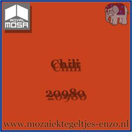 Binnen wandtegel Royal Mosa - Glanzend - 15 x 15 cm - per 1 stuk - Chili 20980