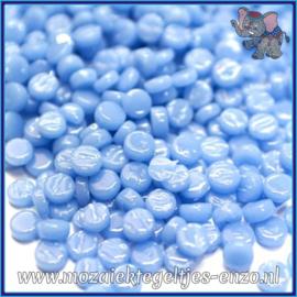 Glasmozaiek Pixel steentjes - Darling Dotz Normaal - 0,8 cm - Enkele Kleuren - per 50 gram - Pale Blue