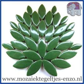 Keramische mozaiek steentjes - Petals Bloemblaadjes Normaal - 14 en 21 mm - Enkele Kleuren - per 50 gram - Pesto