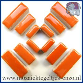 Keramische mozaiek steentjes - Keramiek Rectangles Rechthoekjes Normaal - 4, 6 en 10 mm - Enkele Kleuren - per 50 gram - Popsicle Orange