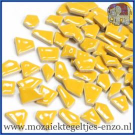 Keramische mozaiek steentjes - Keramiek Puzzel Stukjes Normaal - Enkele Kleuren - per 50 gram - Curry