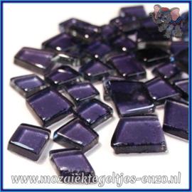 Glasmozaiek steentjes - Transparant Glass Puzzles Normaal - Enkele Kleuren - per 50 gram - Hardcore Ultraviolet