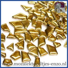 Keramische mozaiek steentjes - Keramiek Puzzel Stukjes Normaal - Enkele Kleuren - per 50 gram - Gold