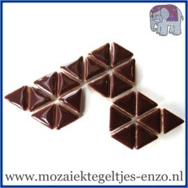 Keramische mozaiek steentjes - Triangles Driehoekjes Normaal - 15 mm - Enkele Kleuren - per 50 gram - Burnt Umber