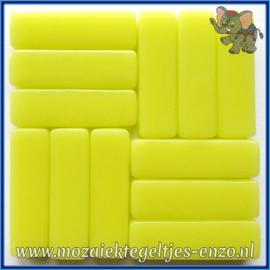 Glasmozaiek steentjes - Stix Rechthoekjes Staafjes XL Normaal - 12 x 38 mm - Enkele Kleuren - per 50 gram - Daffodil Yellow