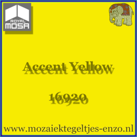 Binnen wandtegel Royal Mosa - Glanzend - 15 x 15 cm - per 1 stuk - Accent Yellow 16920
