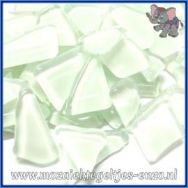 Glasmozaiek steentjes - Soft Glass Puzzles Normaal - Enkele Kleuren - per 50 gram - White