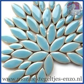 Keramische mozaiek steentjes - Petals Bloemblaadjes Normaal - 14 en 21 mm - Enkele Kleuren - per 50 gram - Azure
