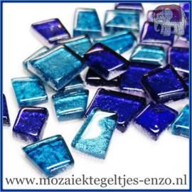 Glasmozaiek steentjes - Moonbeam Normaal - Gemixte Kleuren - per 50 gram - Atlantis