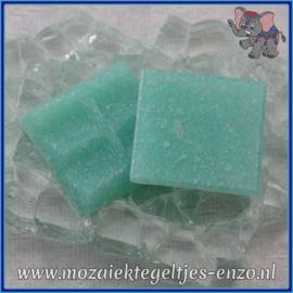 Glasmozaiek tegeltjes - Basic Line - 2 x 2 cm - Enkele Kleuren - per 20 steentjes - Caribbean Blue A62