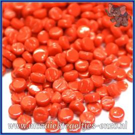 Glasmozaiek Pixel steentjes - Darling Dotz Normaal - 0,8 cm - Enkele Kleuren - per 50 gram - Bright Red