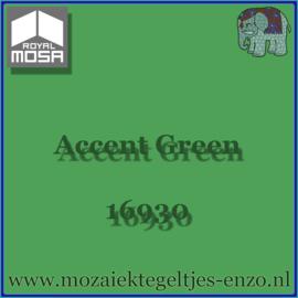 Binnen wandtegel Royal Mosa - Glanzend - 7,5 x 7,5 cm - Op maat gesneden - Accent Green 16930