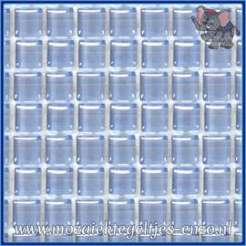 Glasmozaiek tegeltjes - Murrini Crystal - 1 x 1 cm - Enkele Kleuren - per 60 steentjes - Mini Powder Blue