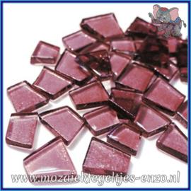 Glasmozaiek steentjes - Transparant Glass Puzzles Normaal - Enkele Kleuren - per 50 gram - Trip Hop Violet