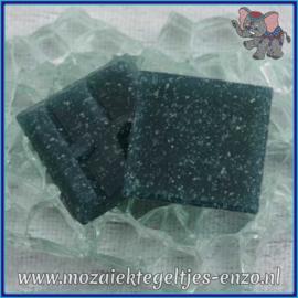 Glasmozaiek tegeltjes - Basic Line - 2 x 2 cm - Enkele Kleuren - per 20 steentjes - Petrol Grey A77