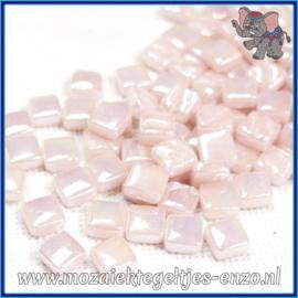 Glasmozaiek Pixel steentjes - Ottoman Parelmoer - 0,8 x 0,8 cm - Enkele Kleuren - per 50 gram - Pale Pink