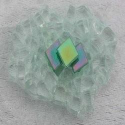 "- Nebula 1 x 1 cm - Mini Jade-Green-""S"""