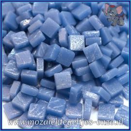 Glasmozaiek Pixel steentjes - Ottoman Matte - 0,8 x 0,8 cm - Enkele Kleuren - per 50 gram - Warm Blue