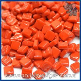 Glasmozaiek Pixel steentjes - Ottoman Normaal - 0,8 x 0,8 cm - Enkele Kleuren - per 50 gram - Bright Red