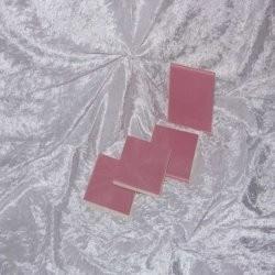 Sample - Binnen wandtegel Royal Mosa - Glanzend - 3,75 x 3,75 cm - per 1 stuk - Sea Pink 19930