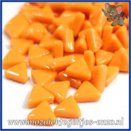 Glasmozaiek steentjes - Art Angles Normaal - 10 mm - Enkele Kleuren - per 50 gram - Opal Orange