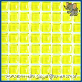 Glasmozaiek tegeltjes - Murrini Crystal - 1 x 1 cm - Enkele Kleuren - per 60 steentjes - Mini Sugared Lemon