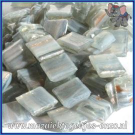 Glasmozaiek tegeltjes - Gold Line - 1 x 1 cm - Enkele Kleuren - per 60 steentjes - Mini Arsenic and Lace