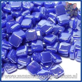 Glasmozaiek Pixel steentjes - Ottoman Parelmoer - 0,8 x 0,8 cm - Enkele Kleuren - per 50 gram - Brilliant Blue