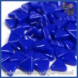 Glasmozaiek steentjes - Art Angles Normaal - 10 mm - Enkele Kleuren - per 50 gram - Brilliant Blue