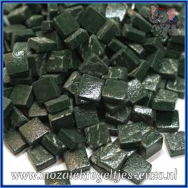 Glasmozaiek Pixel steentjes - Ottoman Matte - 0,8 x 0,8 cm - Enkele Kleuren - per 50 gram - Dark Green