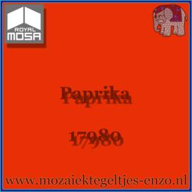 Binnen wandtegel Royal Mosa - Glanzend - 15 x 15 cm - per 1 stuk - Paprika 17980