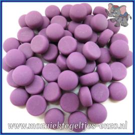 Glasmozaiek steentjes - Optic Drops Matte - 12 mm - Enkele Kleuren - per 50 gram - Purple